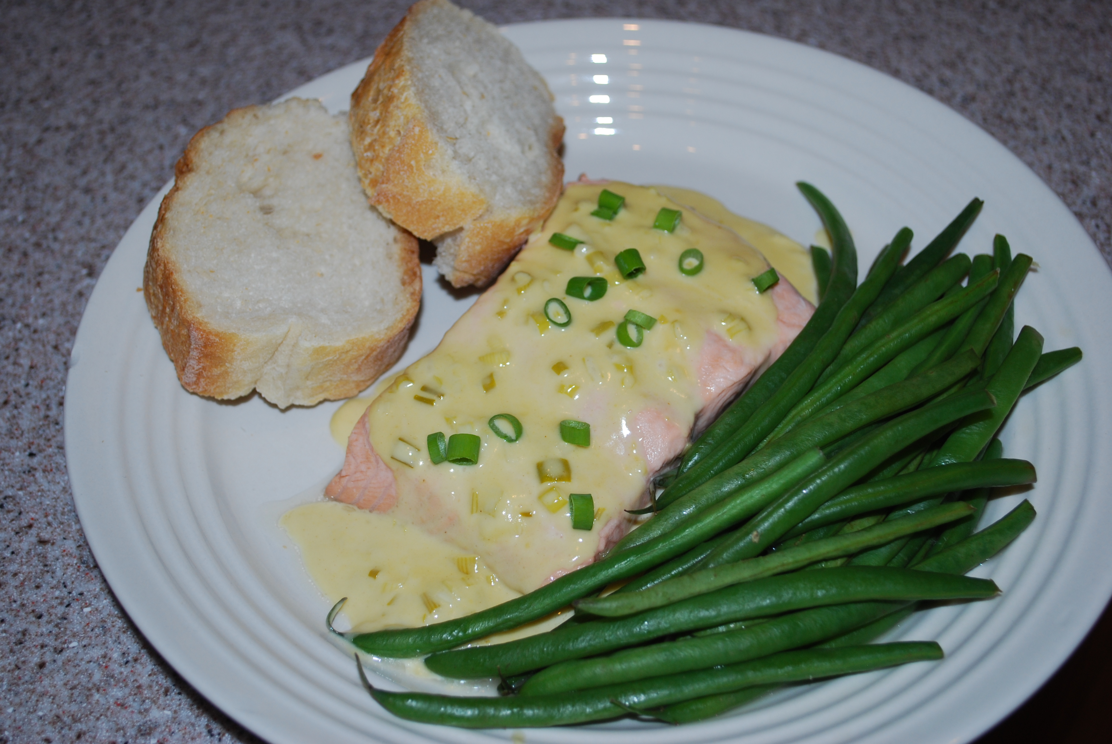 Easy Weeknight Dinner: Salmon Poached in White Wine with ...