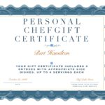 Holiday Gift Idea – A Personal Chef Gift Certificate!