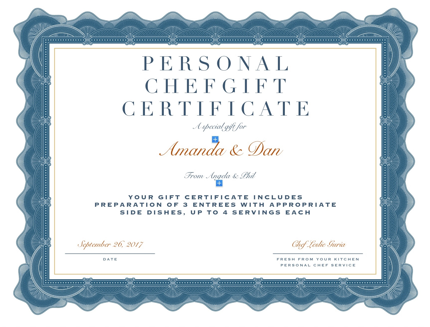 This is a photo of Punchy Pictures of Gift Certificates